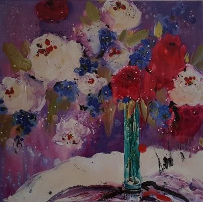 DANIELLE O'CONNOR AKIYAMA: Lackierte Blumen in Vase