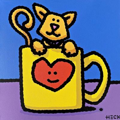 ED HECK: Morning Catfee (Original)