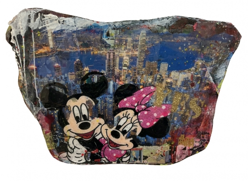 TANJA KIESEWALTER: Yes Hongkong Mickey + Minnie (Unikat)