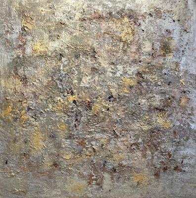 KHADIJA PRUSS: Abstrakt gold-silber (Glitzereffekt)